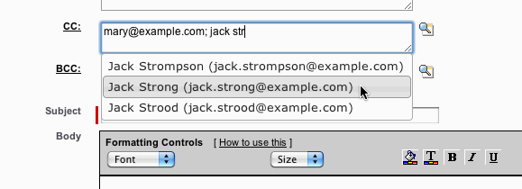 Email AutoComplete (using jQuery)   Perspectives on Salesforce com