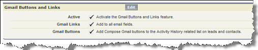 Gmails Buttons & Links Setup