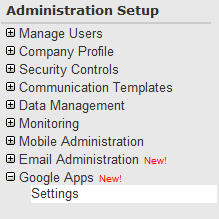 Google Apps Menu Item
